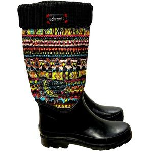 Sakroots Quilted Cuffed Rain Boots